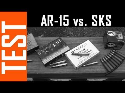 AR-15 vs SKS - Barrier Penetration Test!