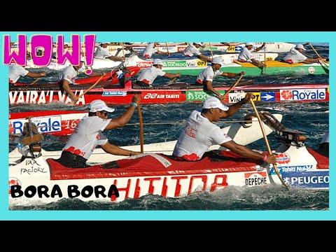 BORA BORA, the HAWAIKI NUI CANOE RACE,  the finishing, full documentary