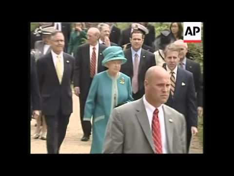 British queen, American VP tour Jamestown, dine at governor's palace