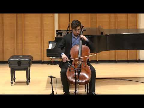 Jonah Kernis, cello - 2018 Henry Schneider Young Virtuosos Concert