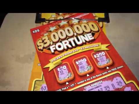 $25 $3,000,000 Fortune X 2 Hoosier Lottery Scratch Off's