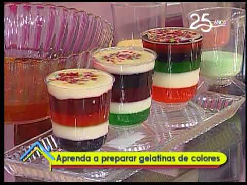 Aprenda a preparar gelatinas de colores