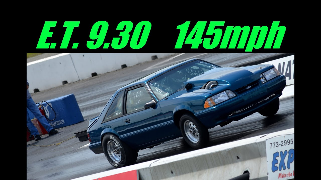 1989 Mustang Drag Race 88mm Turbo 9 3 145mph Youtube
