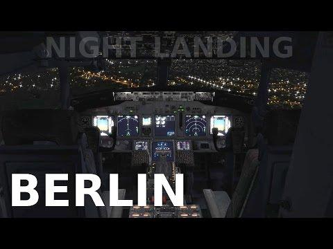 [FSX] Berlin NIGHT LANDING (ORBX GERMANY NORTH)