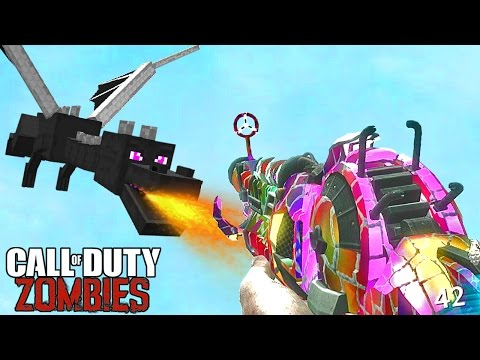 MINECRAFT VILLAGE REMASTERED ZOMBIES MOD Call of Duty Modded Map Gameplay