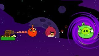 Angry Birds Cannon Hacked 5 - BLASTING THE PIGGIES THROUGH BLACK HOLE!
