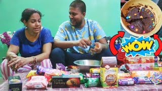 MIXING 100+ TYPES OF BISCUITS And EATING IT!!😱🔥 **Galat Cake**