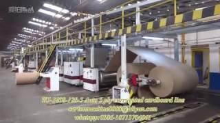 wj 1600 120 5 series automatic 5 ply corrugated cardboard line