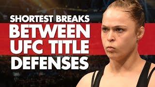 Shortest Breaks Between UFC Title Defenses