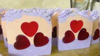 Soap cutting Pink Pepper Pomegranite