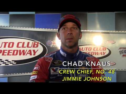 Auto Club 400: Crew Chief Chad Knaus speaks at Press Conference