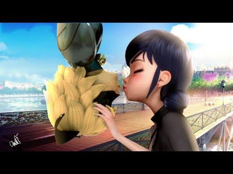 Miraculous Ladybug Speededit: First Kiss (Marichat) in Season 2