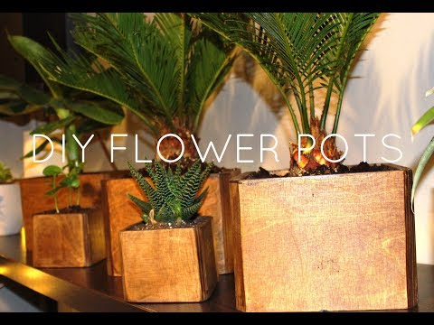 DIY Wood flower pot - easy and cheap plant box from plywood