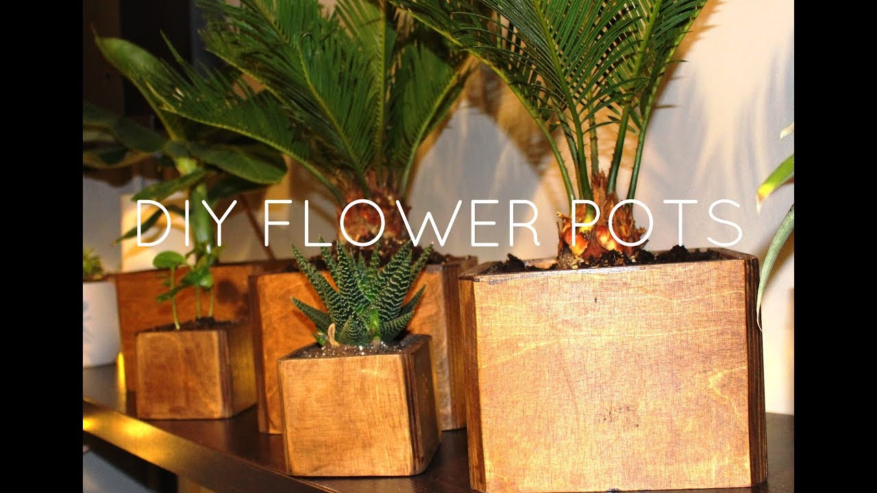 Diy Wood Flower Pot Easy And Cheap Plant Box From Plywood Youtube