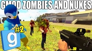 Gmod Funny Moments | Missile Battle & ZOMBIES! | GMOD Shenanigans With Gmod Crew