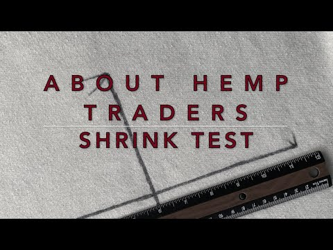Testing shrinkage on hemp fabrics