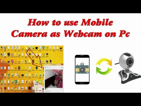 How to use Mobile Camera as Webcam on Pc