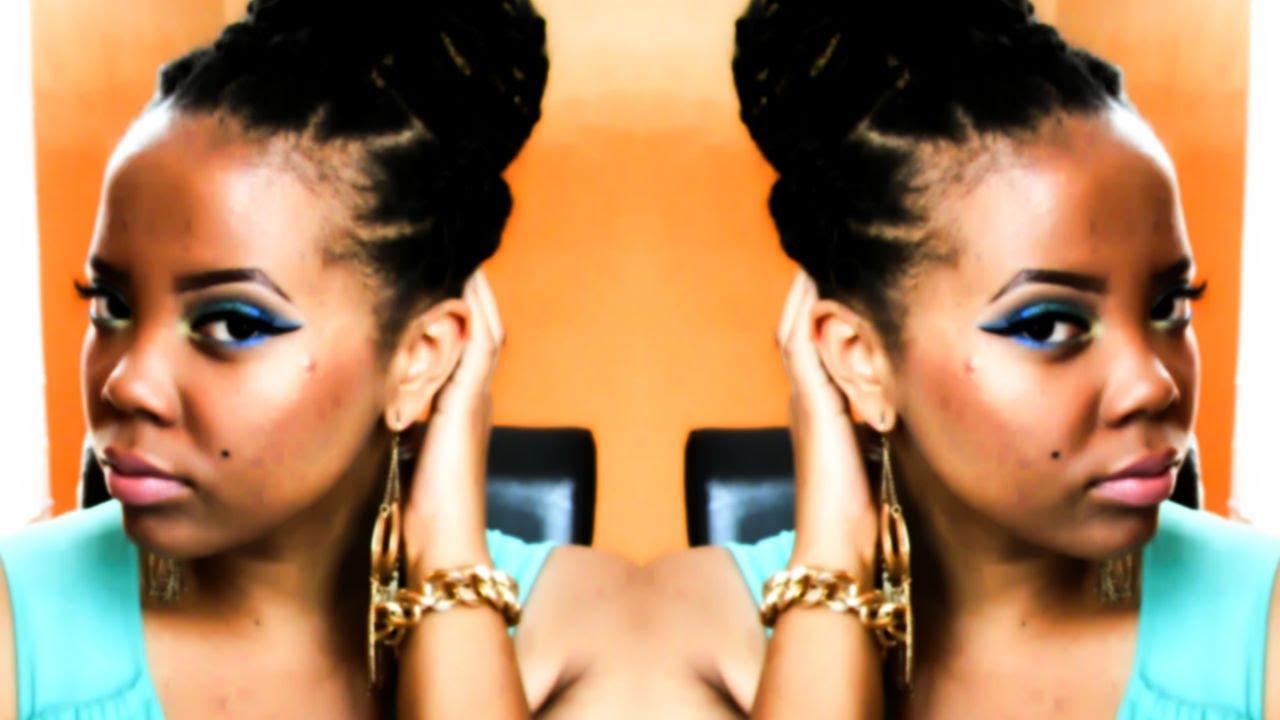 Natural hair summer updo faux havana twist mega bun tutorial natural hair summer updo faux havana twist mega bun tutorial invisible root method youtube pmusecretfo Choice Image