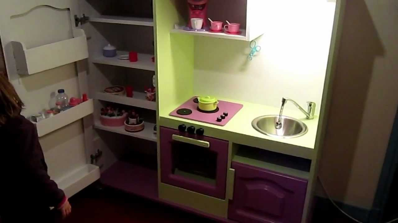 meuble t l recycl en cuisine pour enfant youtube. Black Bedroom Furniture Sets. Home Design Ideas