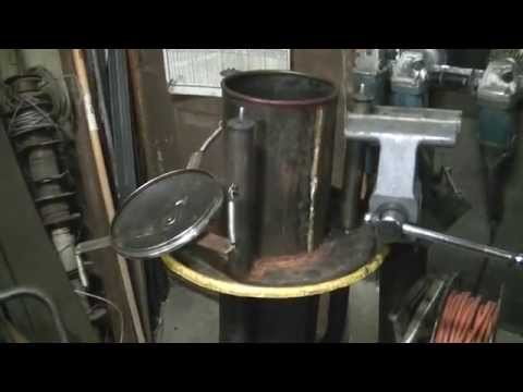 DIY How to make a Homemade wood gasifier system video #2