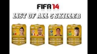 جميع لاعبي فيفا 14 أصحاب 5 نجوم مهارات all fifa 14 5 star skillers
