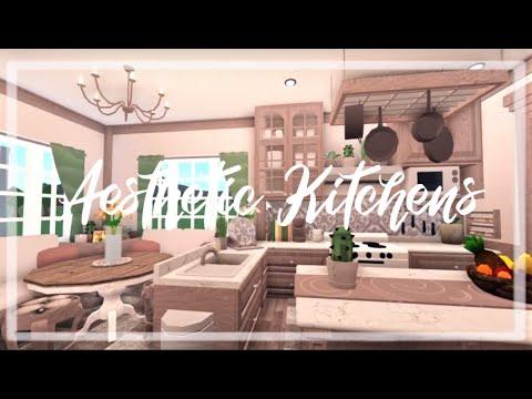 Bloxburg Speed Build Aesthetic Kitchen Ideas Part 2 Youtube
