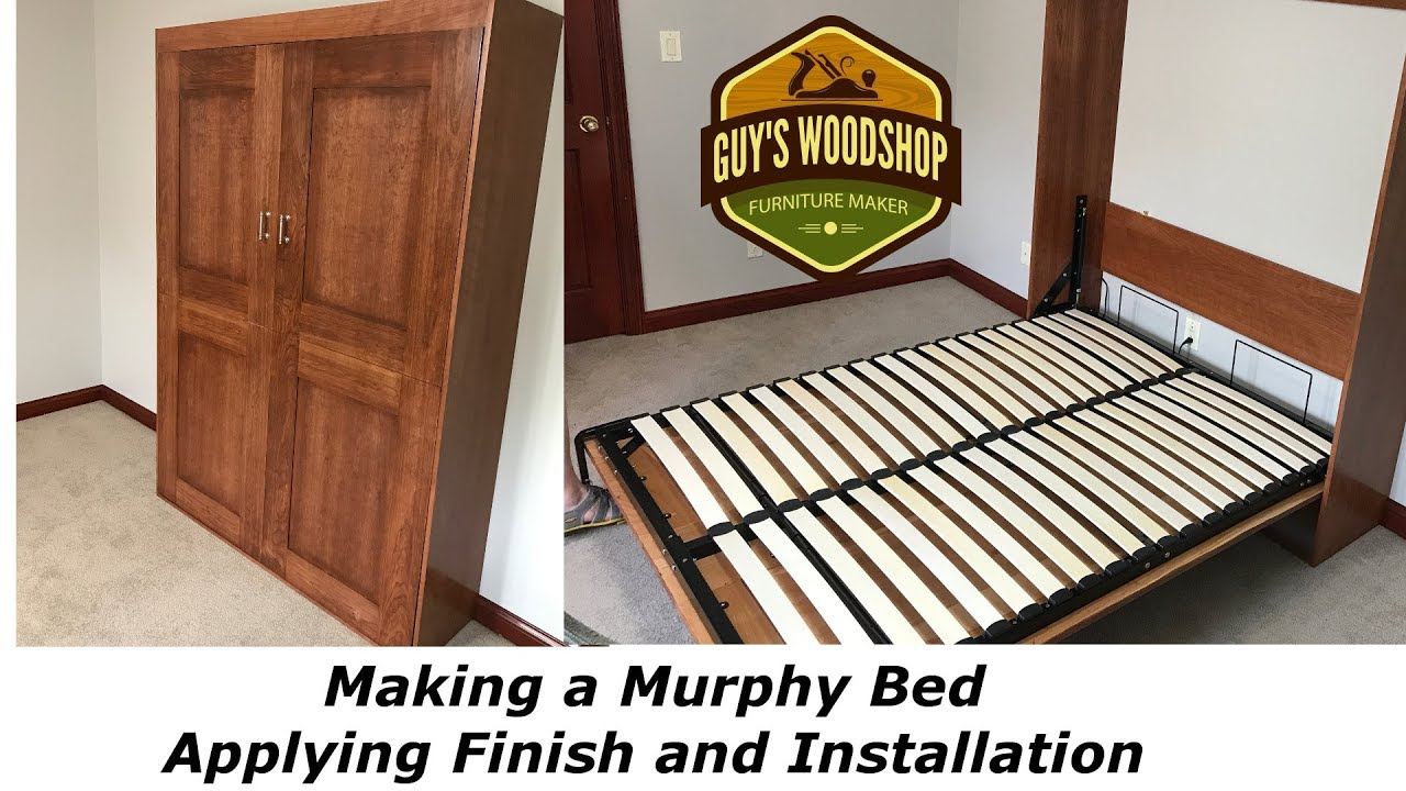 Lying Finish And Installation Murphy Bed Pt 3 Woodworking How To