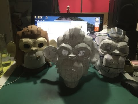 GTA 5 papercraft: Space monkey mask