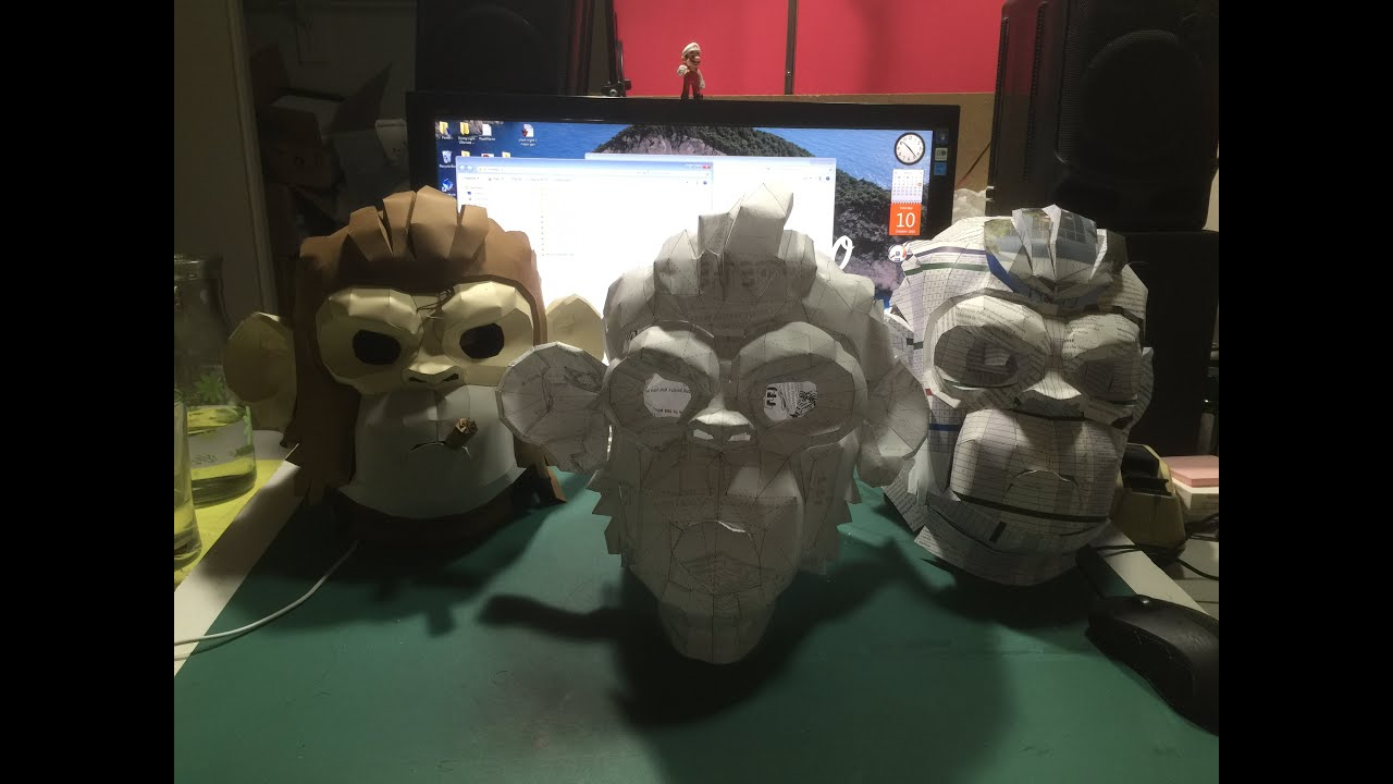 Papercraft GTA 5 papercraft: Space monkey mask