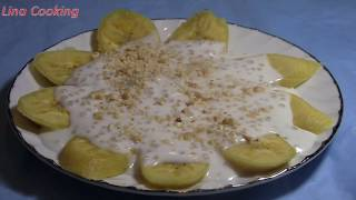 CHUỐI XÀO DỪA  dẻo thơm , béo ngậy -  Steamed Banana & Coconut Milk || Lina Cooking