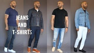 7 Ways To Wear Jeans & T Shirts/Jeans & T Shirt OutFit Ideas
