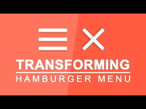 Transforming Hamburger Menu - Animated Toggle Menu Effect - Transforming Hamburger Icons Tutorial