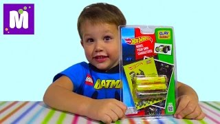 Хот Виллс лепим из набора супер теста машинку Hot Wheels clay buddies car