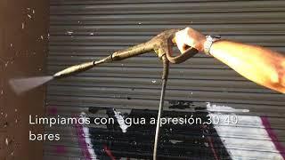 Limpieza grafitis en persianas con PLX CRISTAL COLOR
