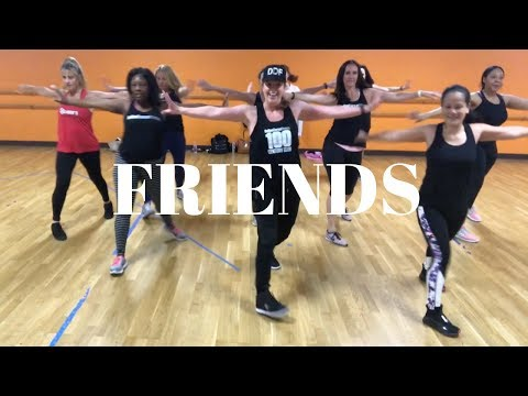 FRIENDS - Marshmello & Anne-Marie   dance fitness workout   choreo by Gino Johnson and Alana