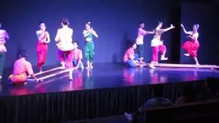 CAMBODIA:  PHNOM PENH:  NATIONAL DANCE ENSEMBLE: 2: PESTLE DANCE