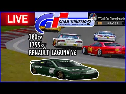 RENAULT LAGUNA V6 no CAMPEONATO GT 300 - Gran Turismo 2 - AO VIVO thumbnail