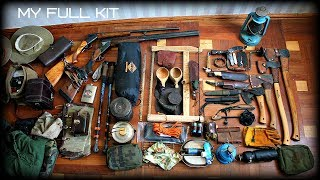 FULL SURVIVAL KIT - ALL OF MY GEAR FOR BUSHCRAFT - HD Video