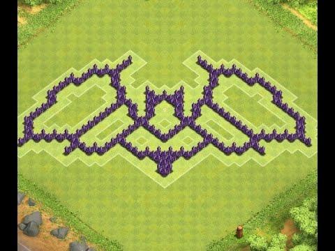 funny th7 batman farming base i clash of clans youtube
