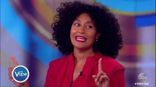 Tracee Ellis Ross Talks Golden Globes Win, Mannequin Challenge at White House & More | The View