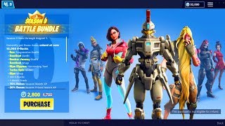 *NEW* SEASON 9 BATTLE PASS BUNDLE! FORTNITE SEASON 9 SKINS LEAKED! (FORTNITE SEASON 9 TIER 100 SKIN)