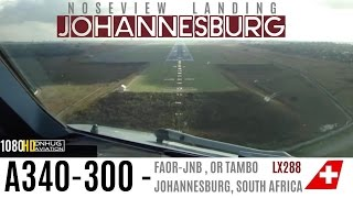 A340 Cockpit Landing in Johannesburg