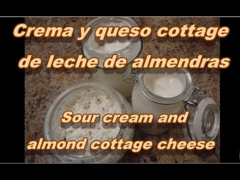 CREMA Y QUESO COTTAGE DE LECHE DE ALMENDRAS - ALMOND SOUR CREAM AND COTTAGE CHEESE - Lorena Lara