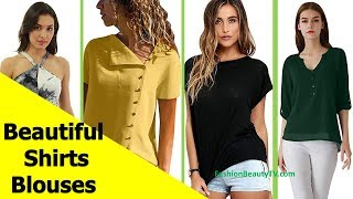 50 Beautiful Shirt and Blouse Designs For Women A6