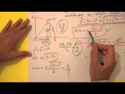 Ekstremum Problemleri Şenol Hoca Matematik
