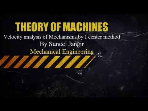 Velocity analysis of mechanisms By I center method Part 2 By Mr. Suneel Jangir