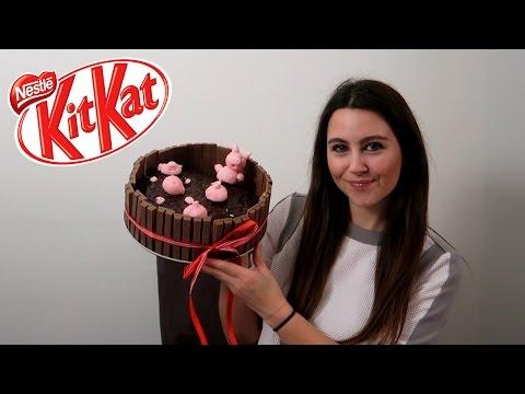 KitKat VARKENTJES MODDERPOEL TAART MAKEN MET LINDA!