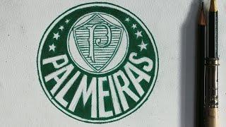Como desenhar o logotipo do Palmeiras com lápis de cor - Atevaldo Novais