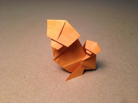 How to make an Origami Monkey