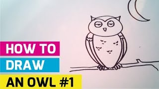 How To Draw An Owl For Kids #1